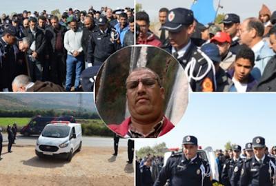 جنازة مهيبة لضابط شرطة ببني ملال بحضور والي الأمن ومسؤولين كبار