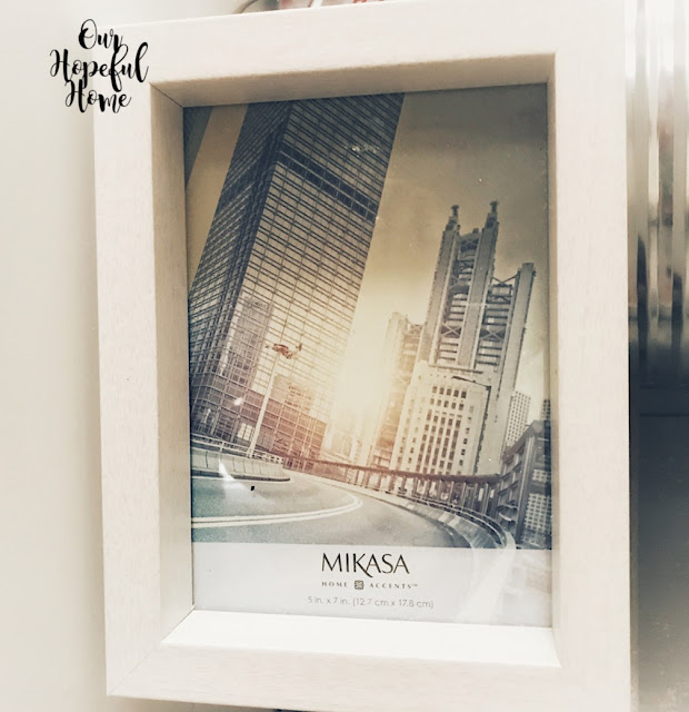 thrifted 5 x 7 white Mikasa picture frame