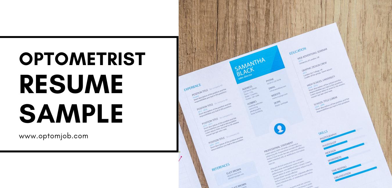 Sample optometry resume