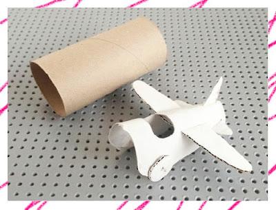 DIY เพียงแค่แกนในกระดาษทิชชู่สามารถประดิษฐ์เครื่องบินได้