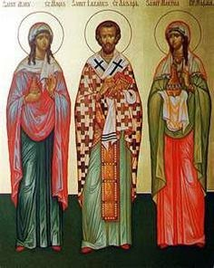 Martha, Lazarus and Mary