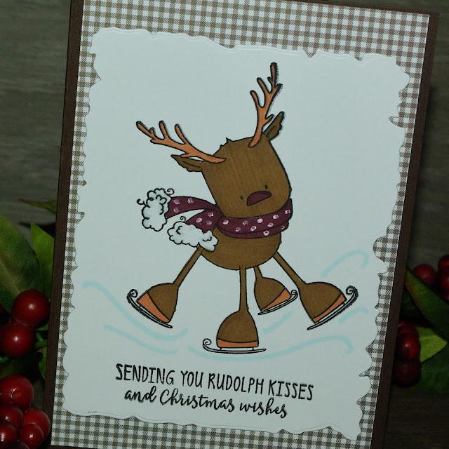 [DIY] Rudolph The Skating Reindeer Wishes Merry Christmas Frohe Weihnachten wünscht Rudolf, das schlittschuhlaufende Rentier