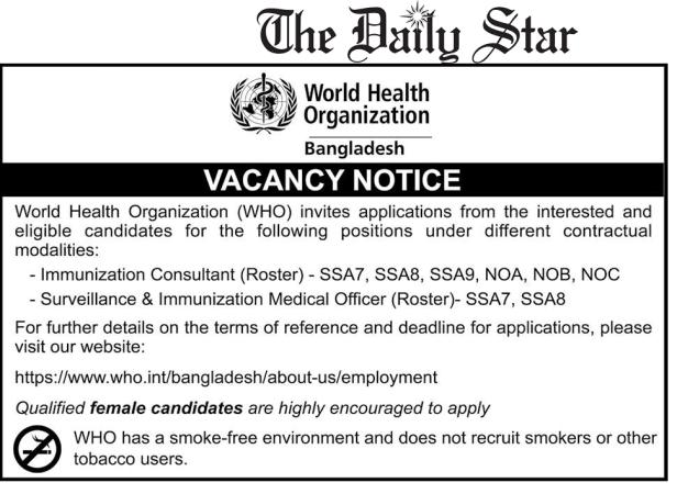 World Health Organization Job Circular 2020