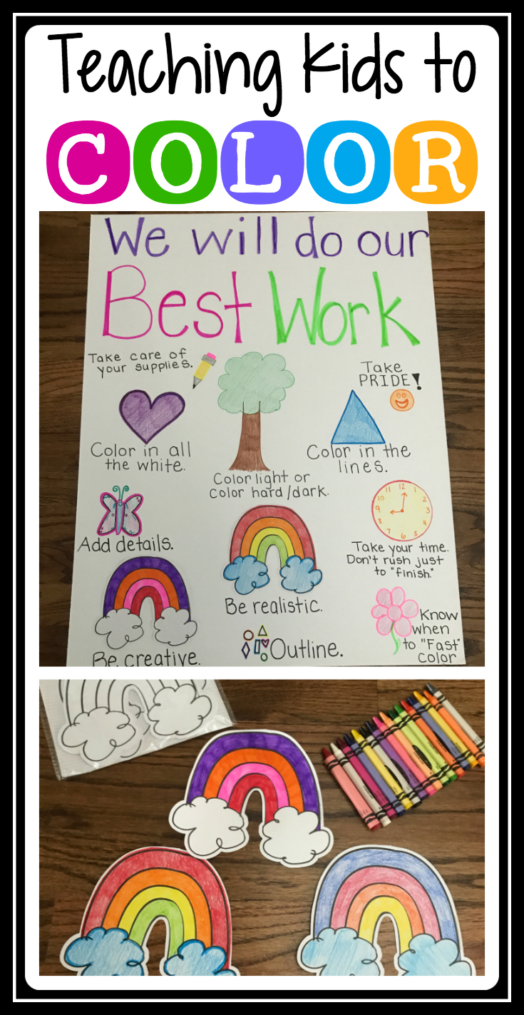 Teaching Students to Color TheHappyTeacher