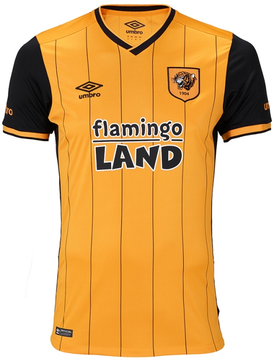 1713fef7d64 The new Hull City 15-16 Away Kit features a clean design combining the main  color white with the club's iconic orange and black applications.
