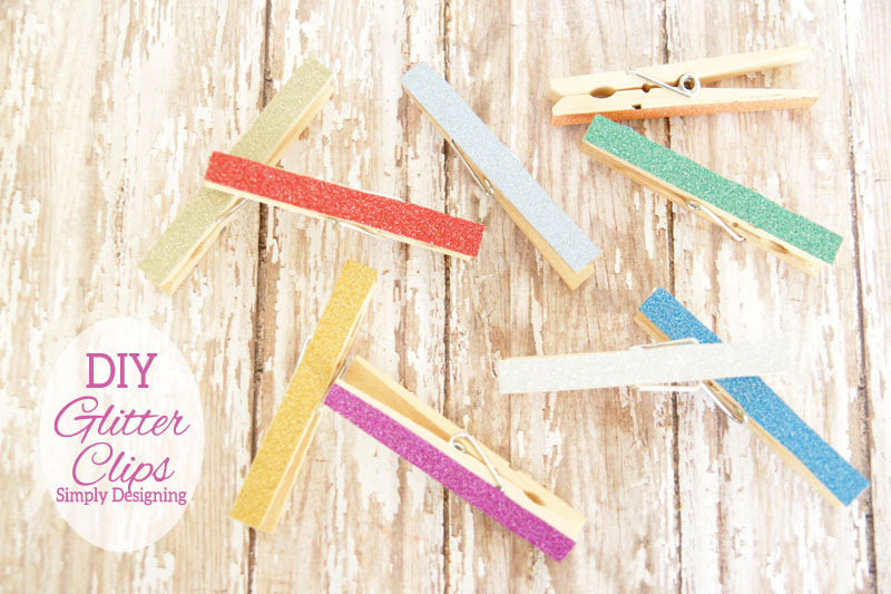 Glitter DIY Chip Clips | these really cute chip clips or magnetic clips are so simple to make and so cheap! I love them!