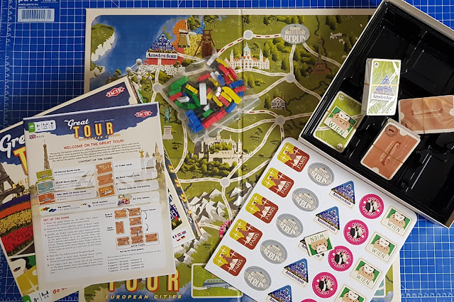 The Great Tour Family Board Game contents what's in the box