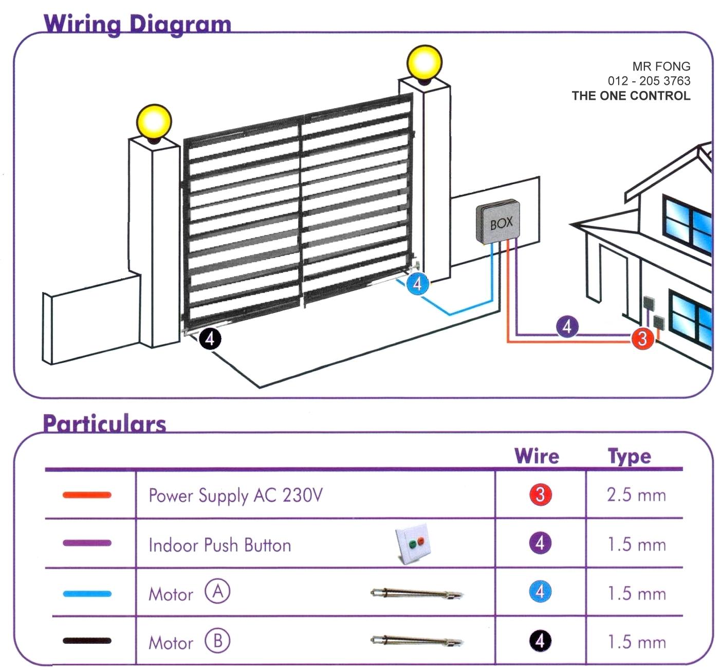 entry gate wiring diagram [ 1403 x 1307 Pixel ]