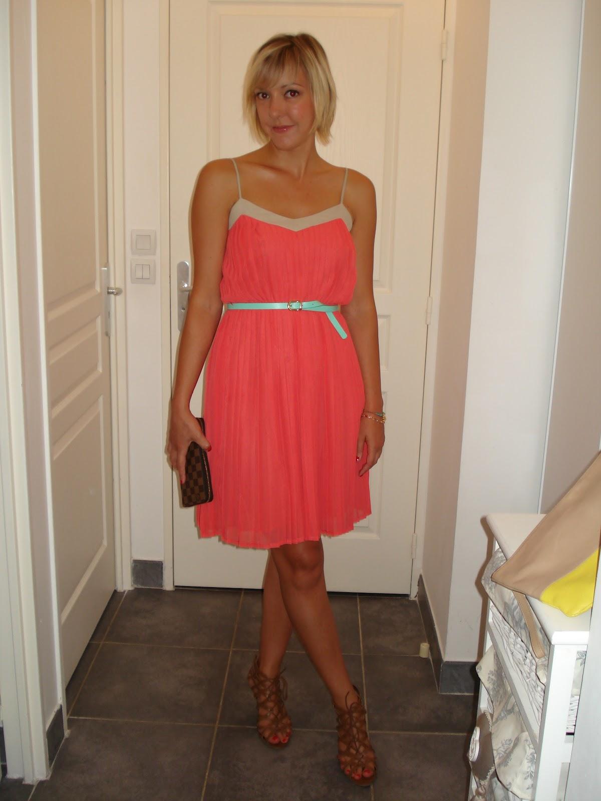 4a7f90a834d ROSE CALAMINE  La petite robe Mango