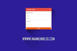 Cara Membuat Lightbox Widget contact Form Blogger