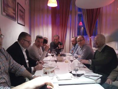 Narciso Serratosa, don Enrique, Javier Martín, Javier López, Adolfo Fradeja, Santi Aliseda, Cucu, José Luis Pérez Mallo, Topo y Jorge Juan Bermejo