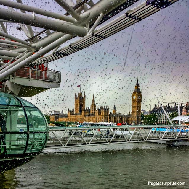 O Big Ben visto do London Eye
