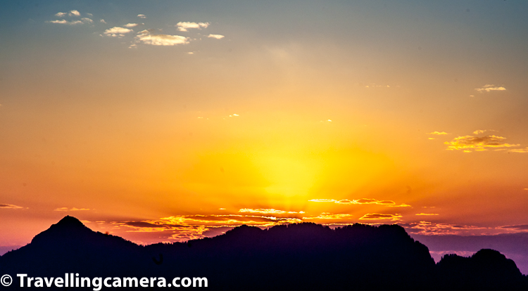 Above photograph shows sunset around hills of Shilaroo region of Himachal Pradesh.