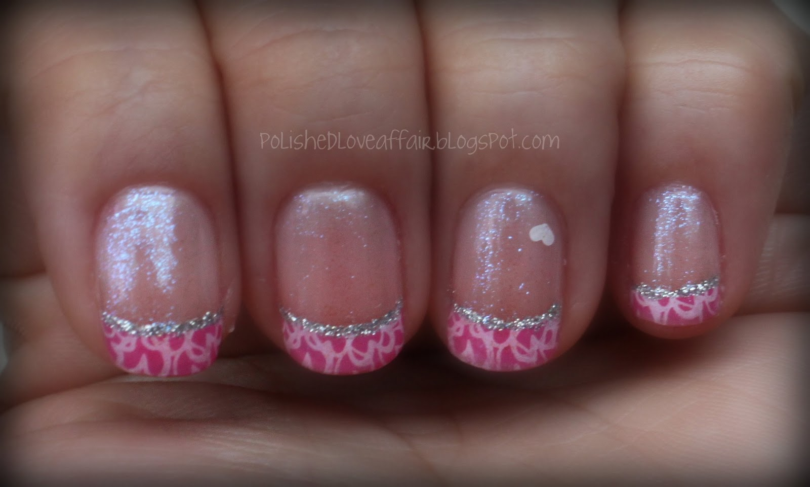 hot pink tip nails - photo #28