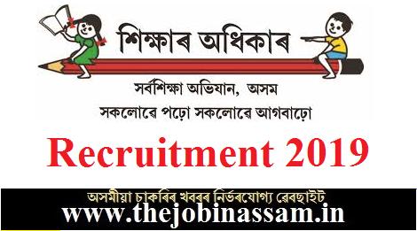 SSA, Darrang, Recruitment 2019