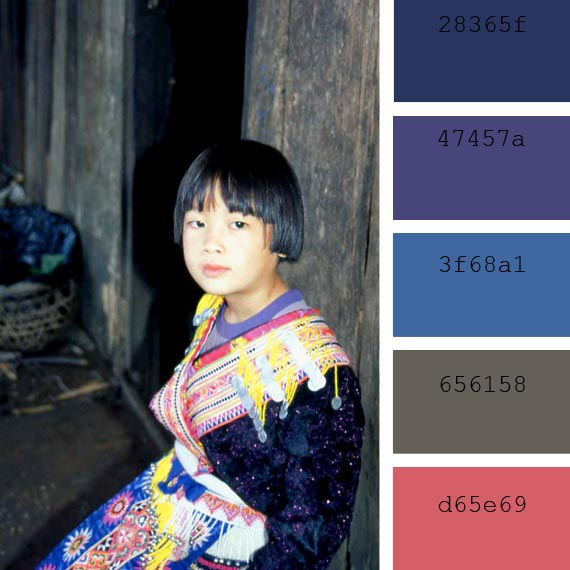 pantone color of the day, orient blue color palette, thailandia portrait