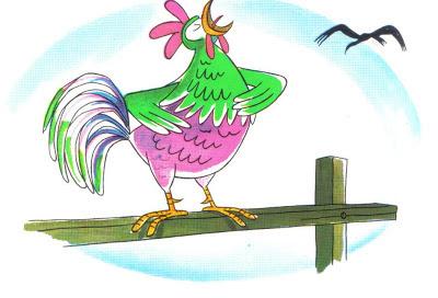 fabula los dos gallos