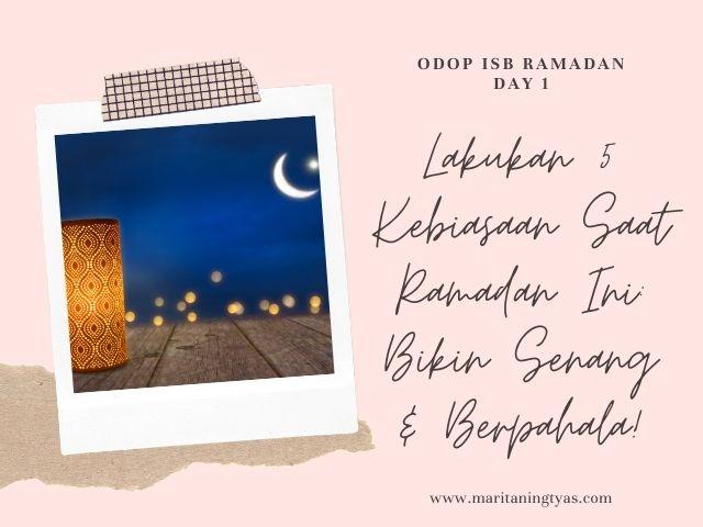 5 kebiasaan saat ramadan