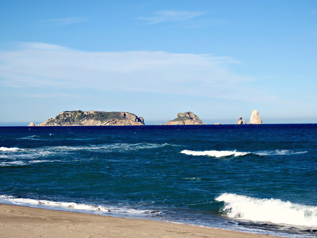 The Medes Islands from the Fonollera i Mas Pinell Beach, Costa Brava