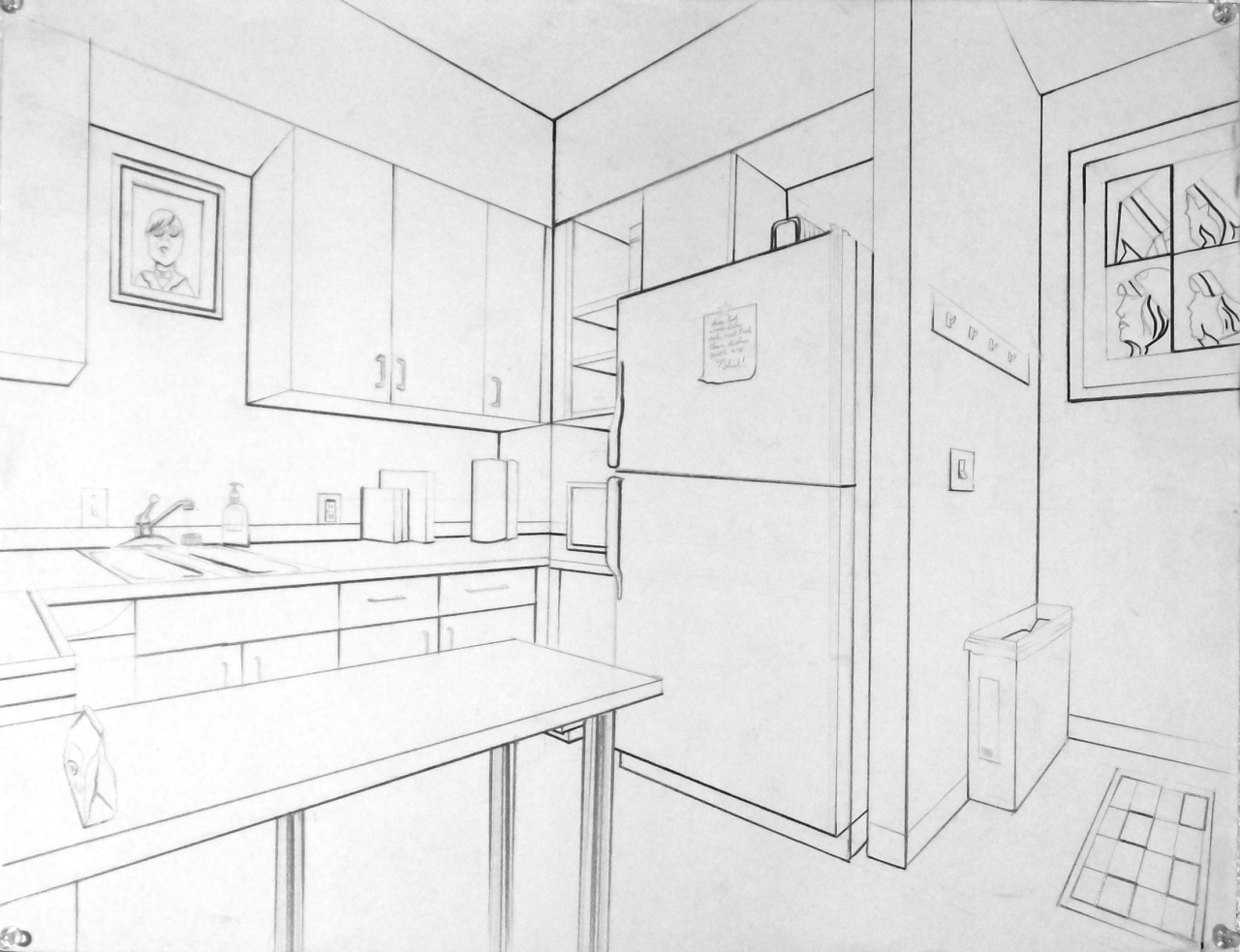Basic Drawing 1: Examples of 2-point Interiors