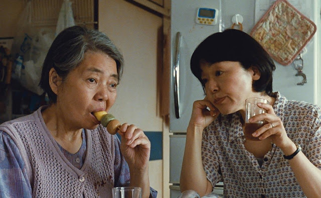 A still from the film's opening scene. Kore-eda showcases the mother-daughter bond and through their conversation playfully introduces our central character Ryota
