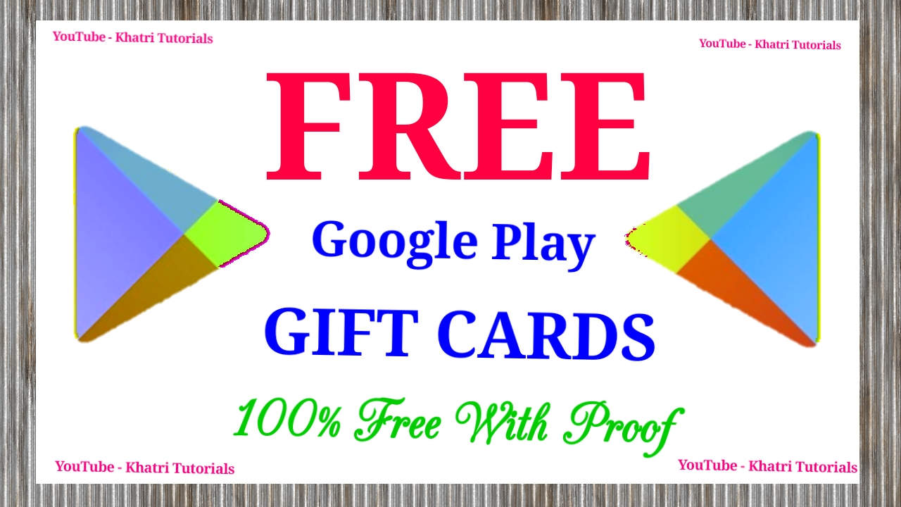 Khatri Tutorials: Free google play redeem codes | How to get