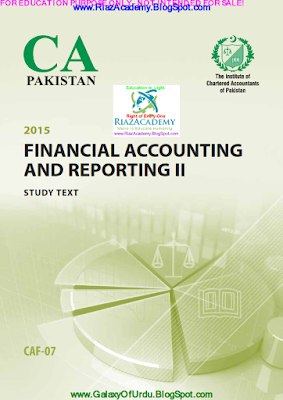 CAF-05 - FINANCIAL ACCOUNTING AND REPORTING II 2015- STUDY TEXT
