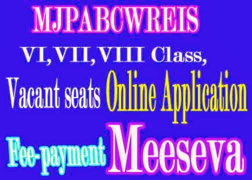 MAHATMA JYOTHIBA PHULE  Welfare Residential Educational  School VI VII VIII Admissions online Application only Meeseva