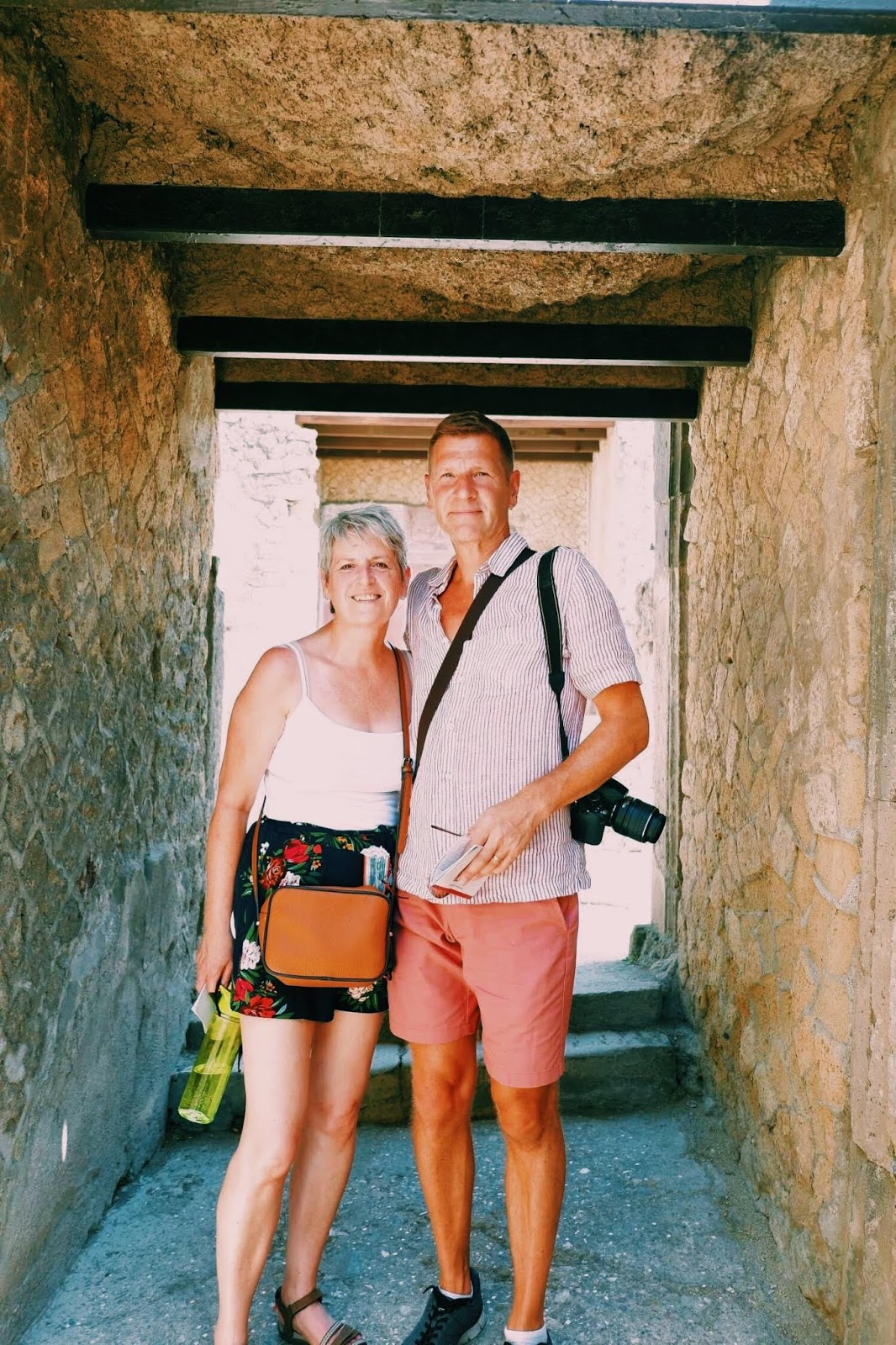 Parents in doorway in Herculaneum