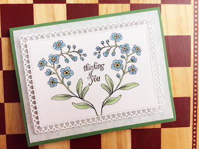 Forget-Me-Not Heart Card