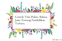 Contoh Teks Pidato Basa Jawa