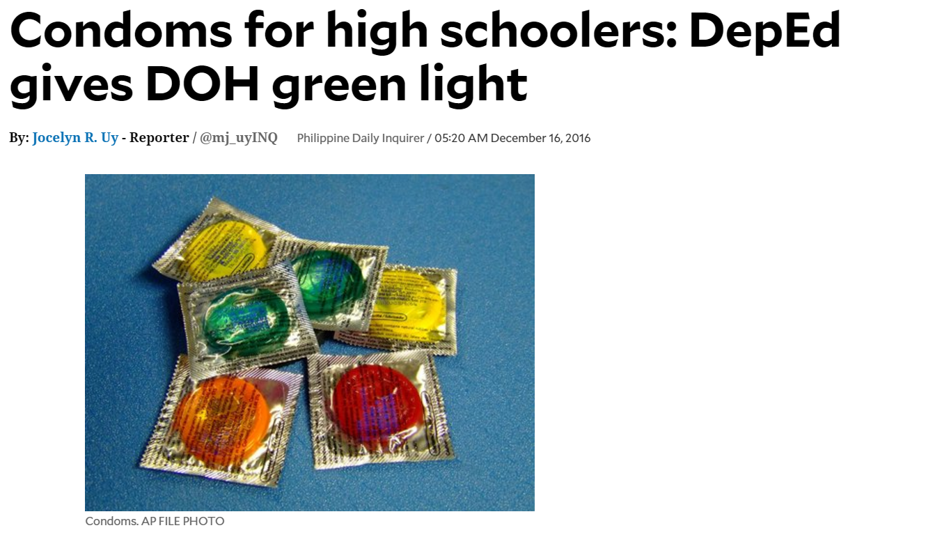 condoms in high school Birth control at school  less than 1 percent of middle schools and nearly 5 percent of high schools make condoms available for students, said nancy brener,.