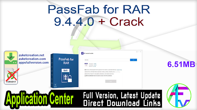 PassFab for RAR 9.4.4.0 + Crack