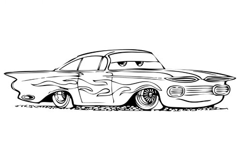 cars cartoon coloring pages - photo#9