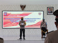 Kapolresta Yogyakarta Gelar Upacara Serah Terima Jabatan Kasatreskrim, Kasatresnarkoba dan Kapolsek Tegalrejo