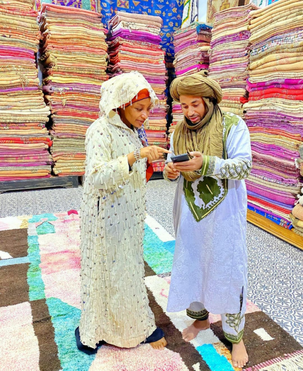 Duba Sabin Hotunan Rahma Sadau a Morocco