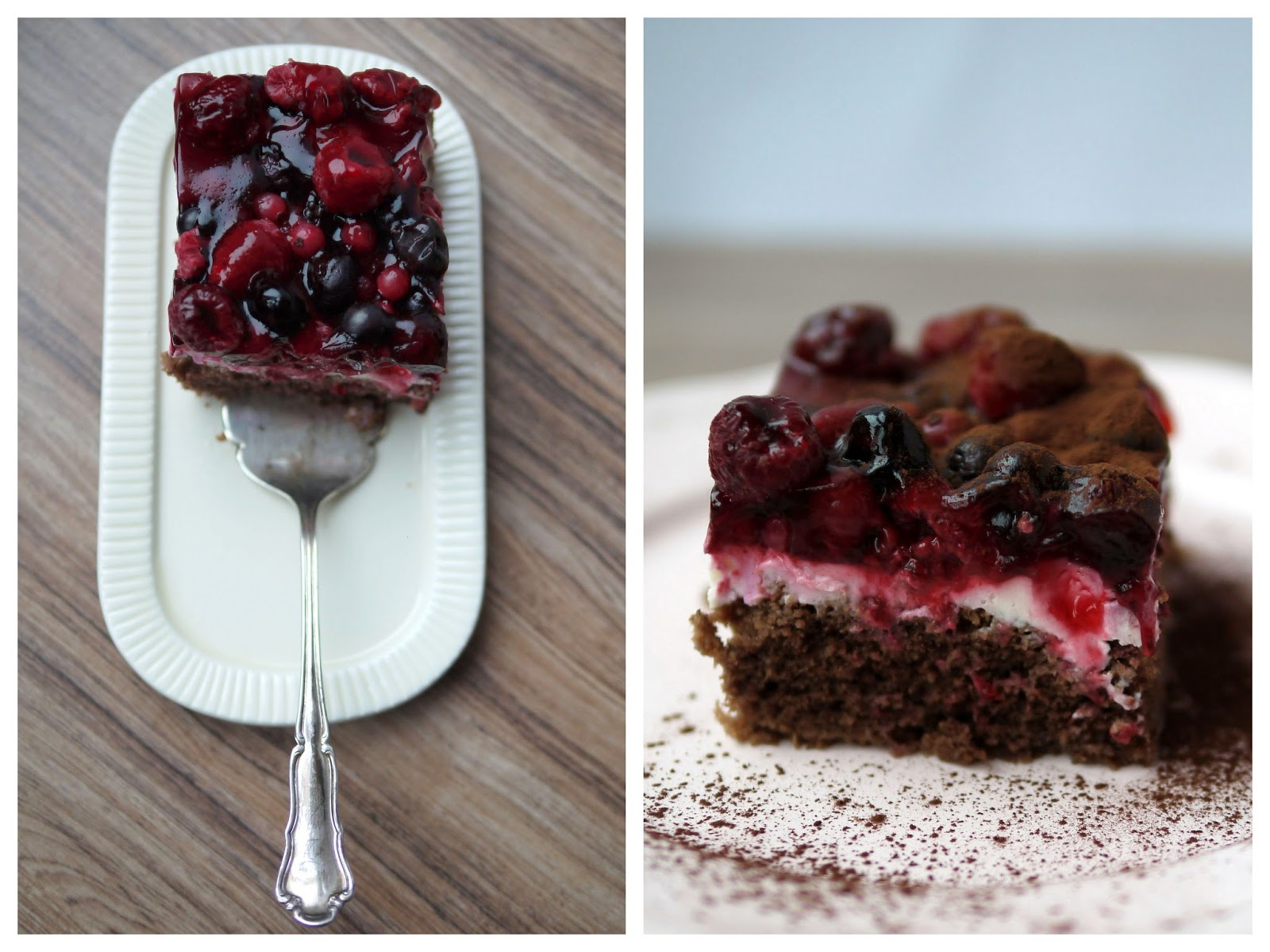 Beeren-Schoko-Kuchen mit Mascarpone | Backen | Kuchen | Blechkuchen | Rezept