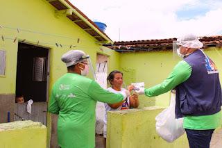 Saúde de Picuí realiza ações no combate à covid-19, através dos ACSs no bairro Pedro Salustino