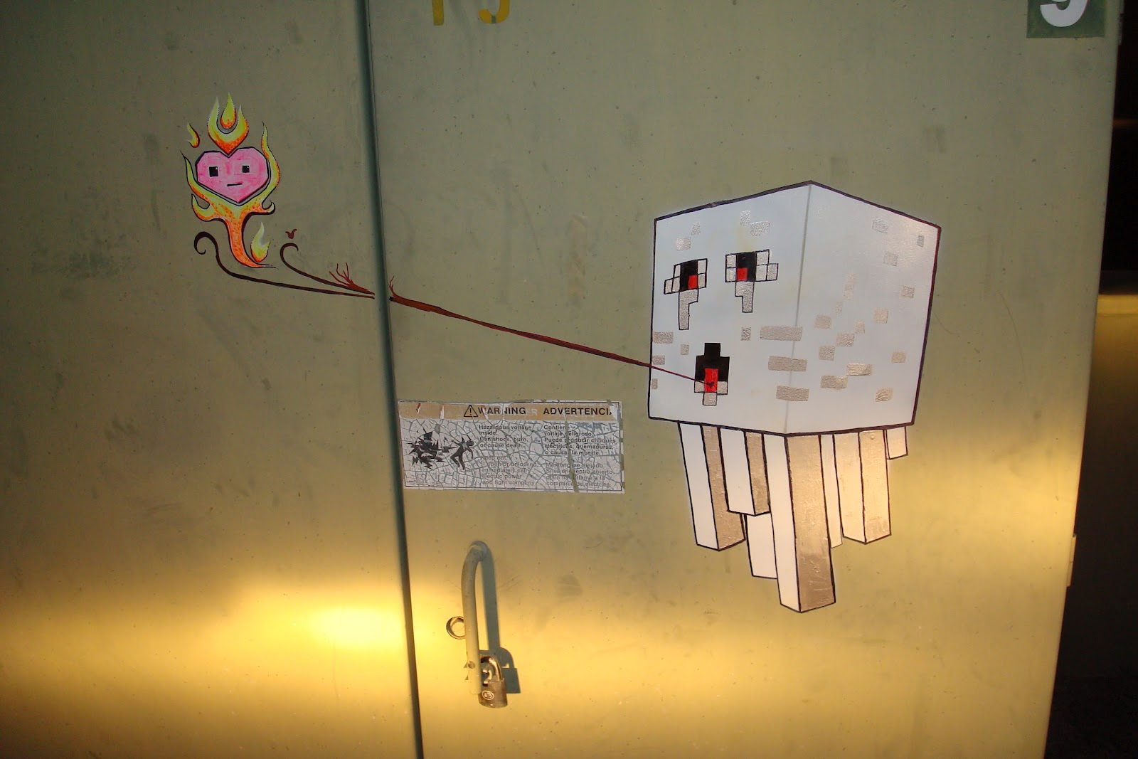 Creaturecraft minecraft ghast painting on electrical box - How warm does it have to be to paint outside ...