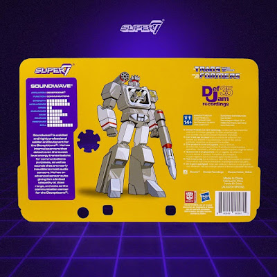 Complex Con 2019 Exclusive Def Jam x Transformers Soundwave ReAction Figure by Super7