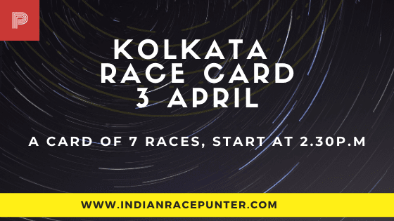 Kolkata Race Card 3 April