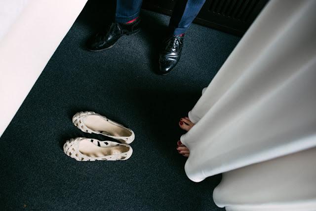 zapatos planos novia