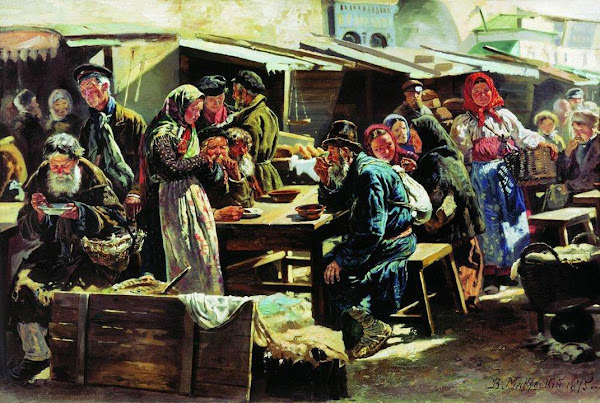 Маковский Владимир Егорович - Обед. 1875