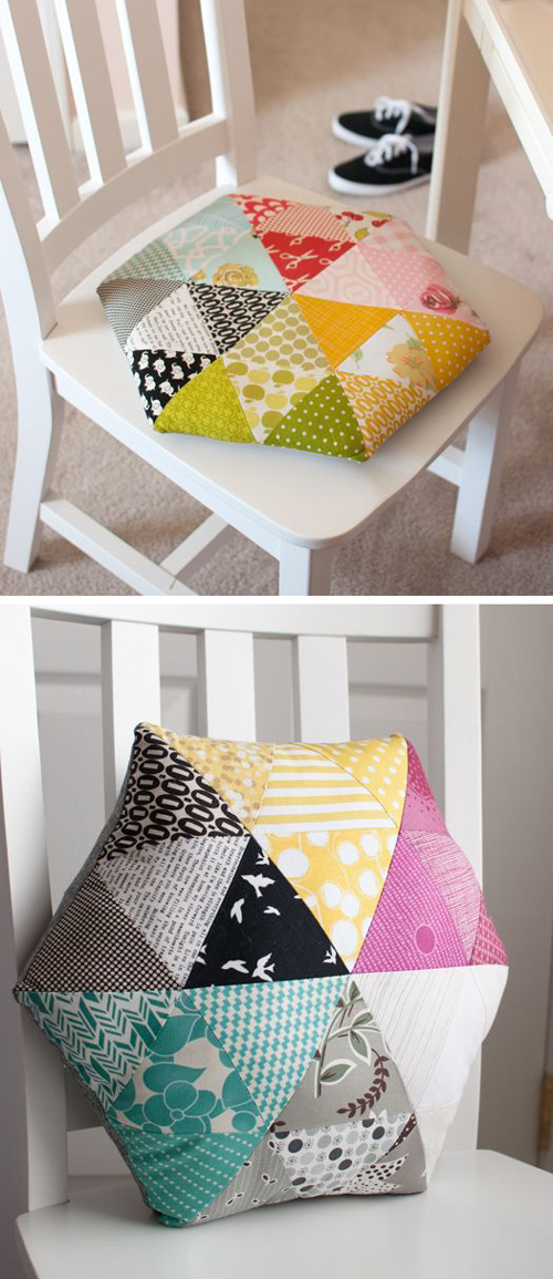 Triangle Hexagon Pillow - Quilt Tutorial