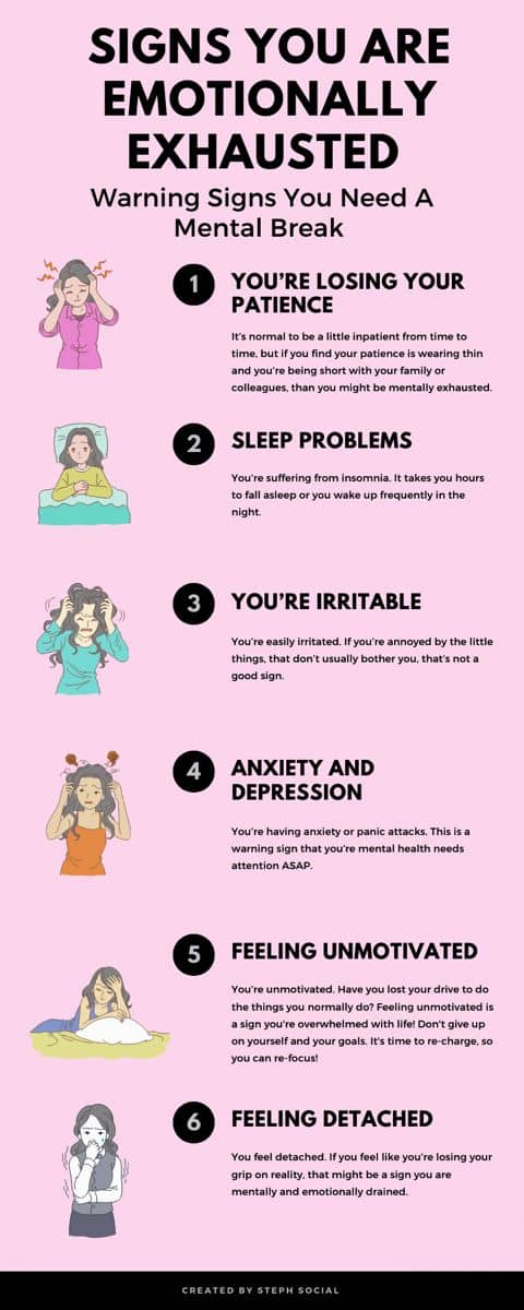 6 Warning Signs You Need A Mental Break Due To Emotionally Exhausted
