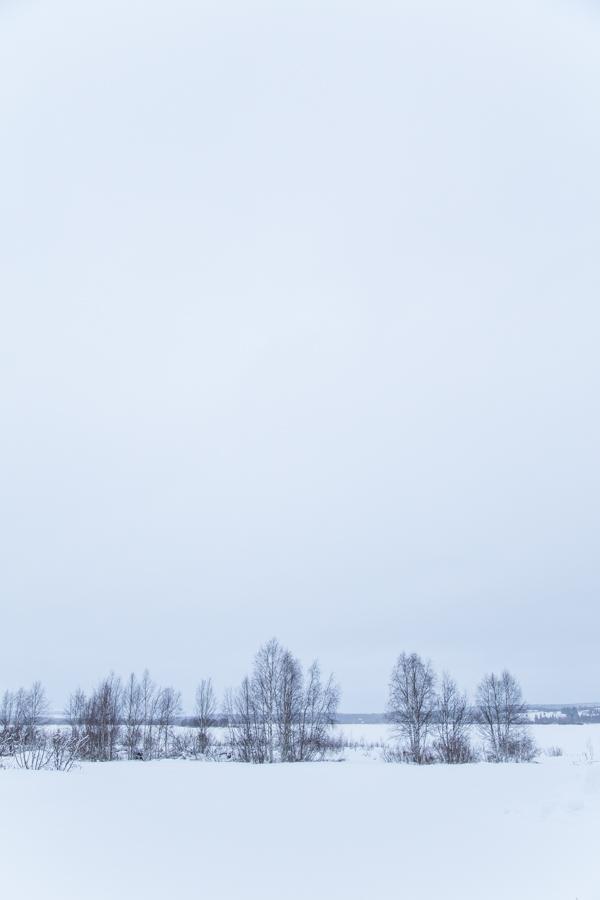 Pilvinen kaamospäivä Muoniossa