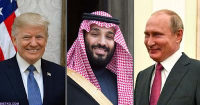 Các nhà lãnh đạo Nga, Mỹ và A rập saudi