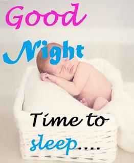 good night cute baby pic
