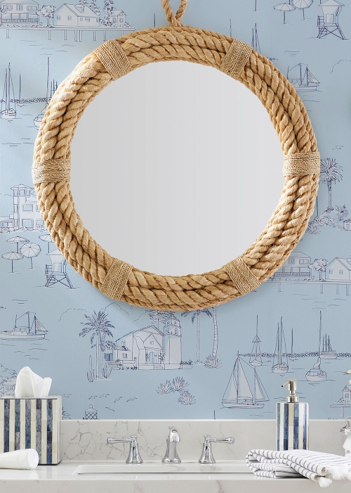 Round Rope Mirror Bathroom