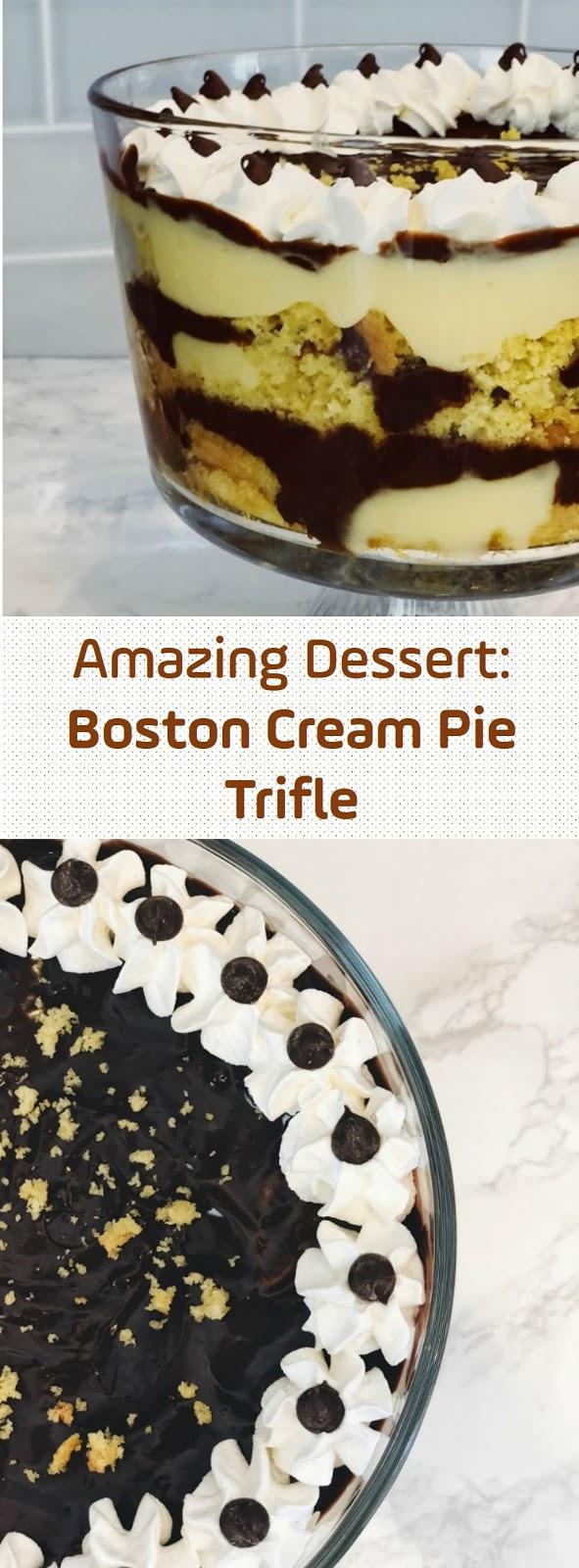 Amazing Dessert: Boston Cream Pie Trifle